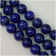 Lapis Lazuli 10mm Round Gemstone Beads (N) Approximate Size 10.5 to 10.8mm 5 inches