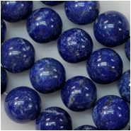 5 Lapis Lazuli 12mm Round Gemstone Beads (N) Approximate Size 11.8 to 12.6mm