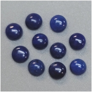 8 Lapis 3.25mm Round Gemstone Cabochons (N) Approximate size 3.25 to 3.4mm