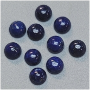 6 Lapis 5mm Round Gemstone Cabochons (N) Approximate size 4.9 to 5.2mm