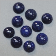 4 Lapis 6mm Round Gemstone Cabochons (N) Approximate size 5.8 to 6.2mm