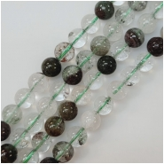 Lodolite 8mm Round Gemstone Beads (N) Approximate size 8 to 8.5mm 7.75 inches