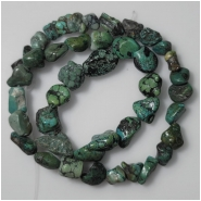 Turquoise Hubei Nugget Gemstone Beads (DS) Approximate Size 8 x 6.9mm to 11.3 x 15.5mm 15.75 inches