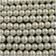 Pearls cream baroque AA round beads (D) 4.2 to 6.4mm 16 inch   CLOSEOUT