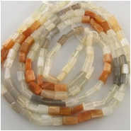 Moonstone multi color irregular rectangle gemstone beads (N) Approximately 4.2 x 6.2mm to 4.8 x 8.5mm 14.5 inch