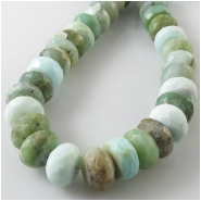 Opal Peruvian faceted rondelle gemstone beads (N) Approximate size 8.5 to 9.5mm diameter 8 inch
