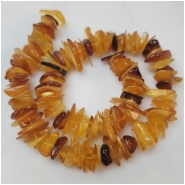 Baltic Amber Multicolor Flat Nugget Large Chip Gemstone Beads (N) Approximate Size 11 to 29mm 16.25 inches