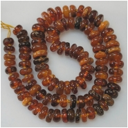Baltic Amber Multicolor Graduated Disc Gemstone Beads (N) Approximate Size 6.7 to 10mm 18.75 inches