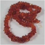 Baltic Amber Honey Cognac Graduated Center Drilled Chip Gemstone Beads (N) Approximate Size 6.7 x 6.7mm to 8.8 x 11.8mm 18.25 inches