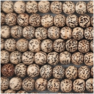 Bodhi Lotus Seed Near Round Beads (N) Approximate size 7mm 29 inches