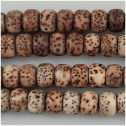 Bodhi Lotus Seed Thick Wheel Beads Darker Color (N) Approximate size 5 x 7mm 22 inches