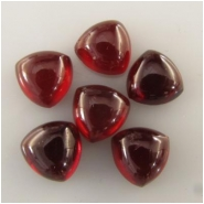 5 Garnet trillion loose cut gemstone beads (N) Approximate size 7mm   CLOSEOUT