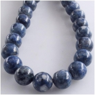 Lapis Denim round gemstone beads (S) Approximate size 8mm 16 inch