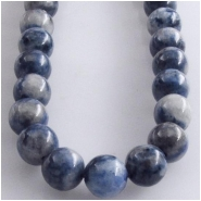 Lapis Denim round gemstone beads (S) Approximate size 6mm 16 inch