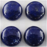 2 Lapis AA round loose cut cabochon gemstones (N) Approximate size 10mm, 9.8 to 10.1mm