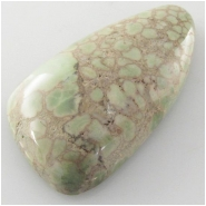 1 Damele variscite gemstone cabochon (N) Approximate size 18.4 x 32.5mm, notice surface imperfections