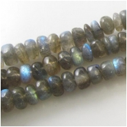 Labradorite rondelle gemstone beads (D) Approximate size 6 to 7mm 13.5 inch