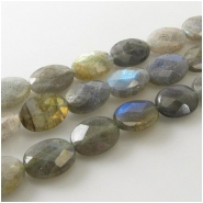 Labradorite faceted oval gemstone beads (N) Approximate size 10 x 14mm 15 inch