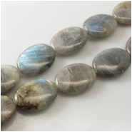 Labradorite oval gemstone beads (N) Approximate size 18 x 25mm 15.5 inch