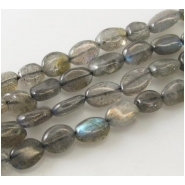Labradorite oval gemstone beads (D) Approximate size 5 x 8mm to 6 x 9mm 13 inch