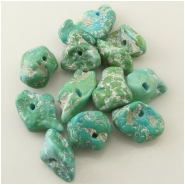 1 Turquoise Sleeping Beauty green blue nugget gemstone bead (N) Approximate size 8.8 x 13mm to 15 x 19.7mm