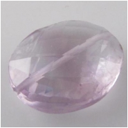 1 Amethyst faceted oval gemstone pendant bead (N) 14 to 16mm