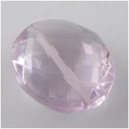 1 Amethyst faceted oval gemstone bead (N) 11 to 13mm