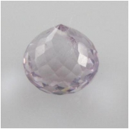 1 Amethyst pink faceted onion cut briolette gemstone bead (N) 8mm