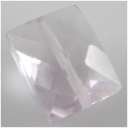 1 Amethyst pink faceted cushion cut gemstone bead (N) 7 x 8.7 to 8.2 x 11mm