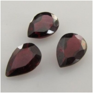 2 Garnet faceted pear loose cut gemstone (N) Approximate size 6 x 8mm