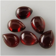 5 Garnet pear cabochon loose cut gemstones (N) Approximate size 5 x 7mm