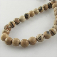 Picture Jasper African round gemstone beads (N) Approixmate size 6mm to 6.5mm 15.5 inch