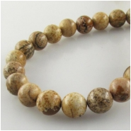 Picture Jasper round gemstone beads (N) Approixmate size 8mm to 8.5mm 15.5 inch