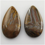 1 Tiger Iron tear drop cabochon gemstone (N) Approximate size 22 x 40mm