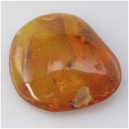 Amber Baltic with insect inclusions gemstone (N) Approximate size 26 x 32mm Not drilled