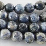 Dumortierite faceted round gemstone beads (N) Approximate size 10mm 14.5 inch