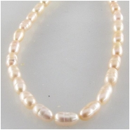 Pearls baroque rice pink champagne gemstone beads (D) Approximate size 3 x 5mm 16 inch