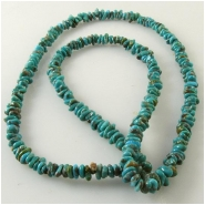 Turquoise Carico Lake small nugget chip gemstone beads (N) Approximate size 3 x 4mm to 3.6 x 5mm 18 inch