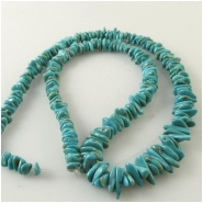Turquoise Carico Lake graduated nugget gemstone beads (N) Approximate size 3.8 x 4.7mm to 4.5 x 12mm, 16 inch