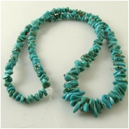 Turquoise Carico Lake graduated nugget gemstone beads (N) Approximate size 3.7 x 4.3mm to 5.6 x 12mm, 18 inch