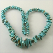 Turquoise Carico Lake graduated chip nugget gemstone beads (N) Approximate size 3.3 x 4.4mm to 8 x 16mm 18 inch