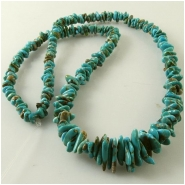 Turquoise Carico Lake graduated nugget gemstone beads (N) Approximate size 2.7 x 4.6mm to 5 x 11.6mm, 17 inch