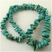 Turquoise Carico Lake graduated nugget gemstone beads (N) Approximate size 3.3 x 7.3mm to 6.3 x 14mm, 18 inch