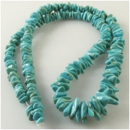 Turquoise Carico Lake graduated nugget gemstone beads (N) Approximate size 3.9 x 4.9mm to 4.9 x 11.5mm 17 inch
