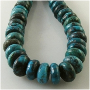 Turquoise Hubei puff rondelle gemstone beads (S) Approximate size 9mm to 10.5mm diameter 15.5 inch