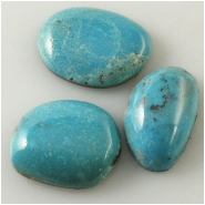 3 Turquoise Nacozari cabachon gemstones (N) Approximate size 11.5 x 17.5mm to 15 x 20.1mm