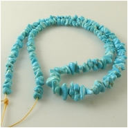 Turquoise Sleeping Beauty Zachery process graduated nugget gemstone beads Approximate size 3.7 x 4.4mm to 5.8 x 8.7mm 18 inch