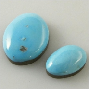2 Turquoise Sleeping Beauty Zachery process cabochon gemstones Approximate size 8 x 11.7mm and 12.7 x 16.4mm Backed