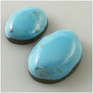 2 Turquoise Sleeping Beauty Zachery process cabochon gemstones Approximate size 9.4 x 11.9mm and 10.8 x 15.1mm Backed