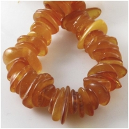 Amber Baltic flat nugget gemstone beads (N) Approximate size 8 x 9mm to at least 9 x 20mm 16 inch